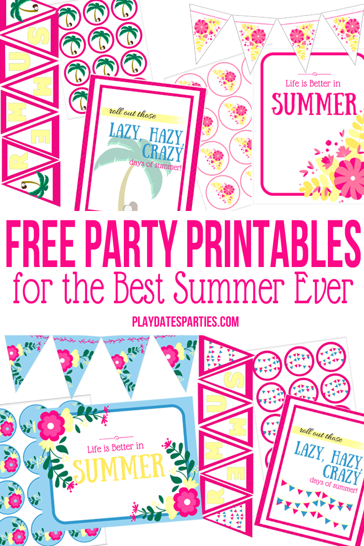5 Free Printables That Will Make Your Summer Spectacular - Free Party Printables