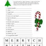 5 Images Of Free Printable Christmas Word Games | Printablee   Free Printable Christmas Puzzles