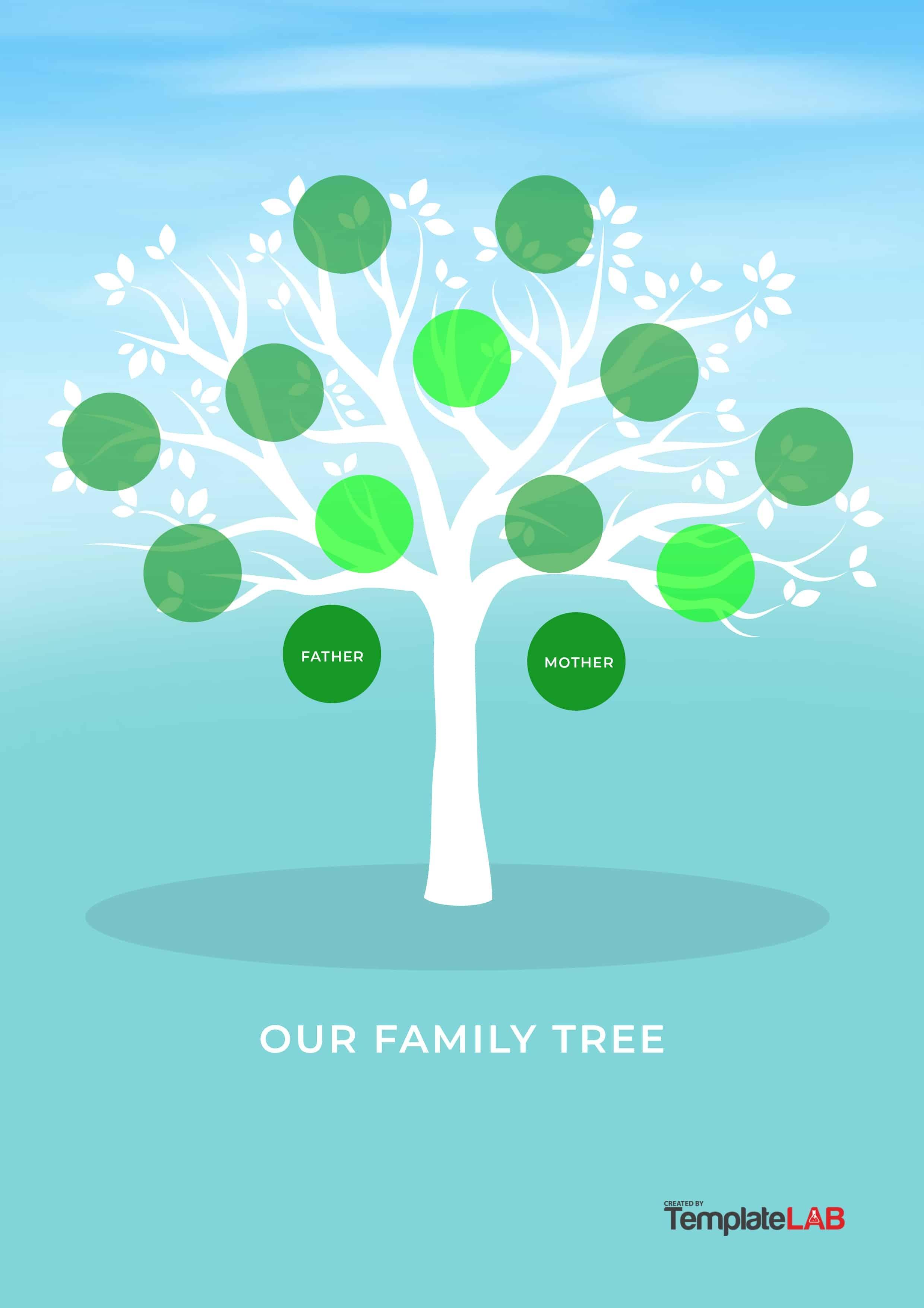 50+ Free Family Tree Templates (Word, Excel, Pdf) ᐅ Template Lab - Free Printable Family Tree