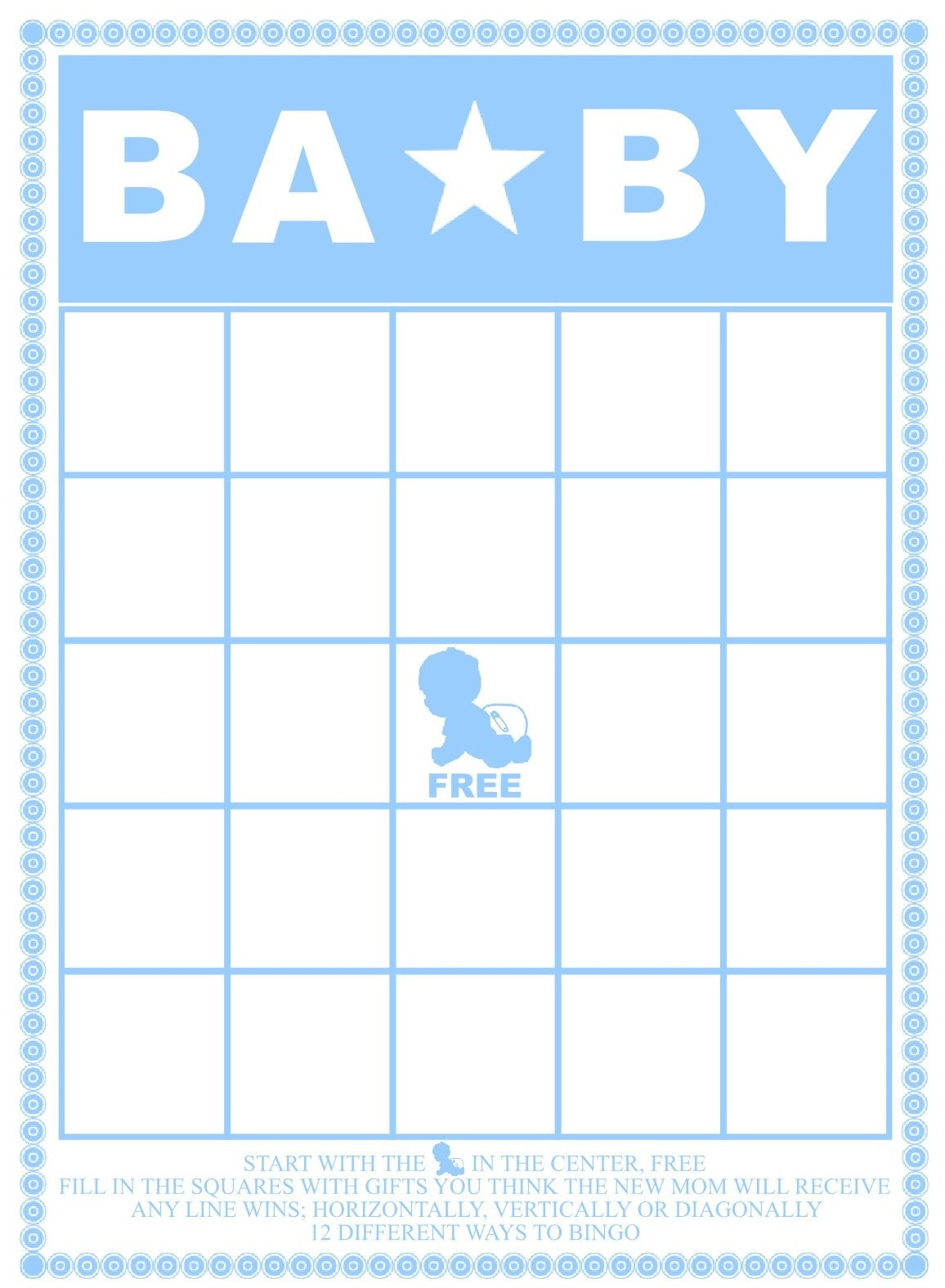 50 Free Printable Baby Bingo Cards (74+ Images In Collection) Page 1 - 50 Free Printable Baby Bingo Cards