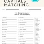 50 State Capitals   Social Studies   English Worksheets For Kids   Free Printable States And Capitals Worksheets