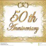 50Th Wedding Anniversary Card Stock Illustration   Illustration Of   Free 50Th Anniversary Printables