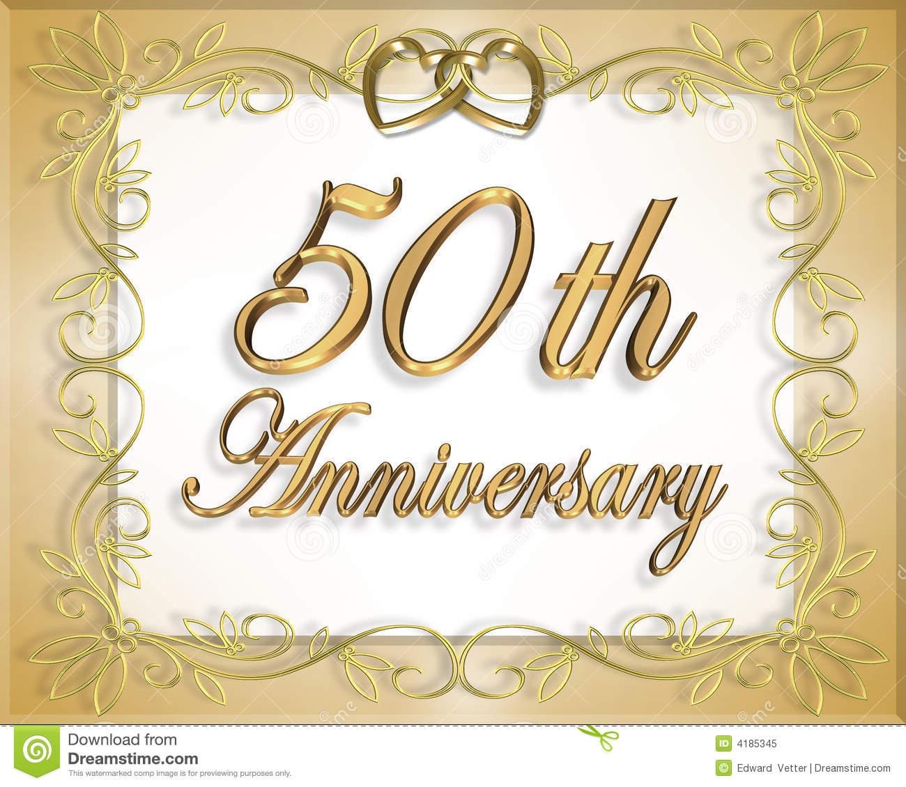 50Th Wedding Anniversary Card Stock Illustration - Illustration Of - Free 50Th Anniversary Printables