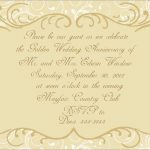 50Th Wedding Anniversary Invitations Free Templates Marvelous Golden   Free 50Th Anniversary Printables