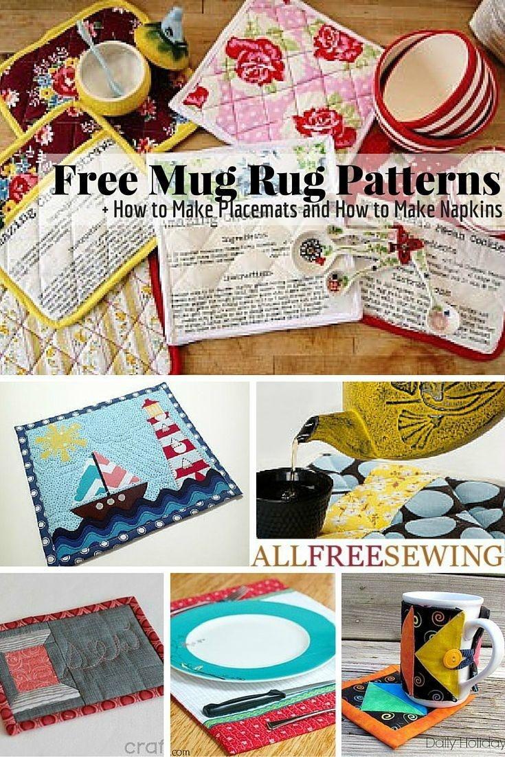 53 Free Mug Rug Patterns And Placemat Patterns | Sewing Tutorials - Free Printable Placemat Patterns