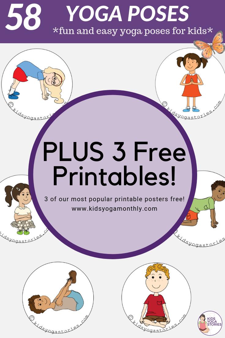 58 Fun And Easy Yoga Poses For Kids (Printable Posters) | Classroom - Free Printable Preschool Posters