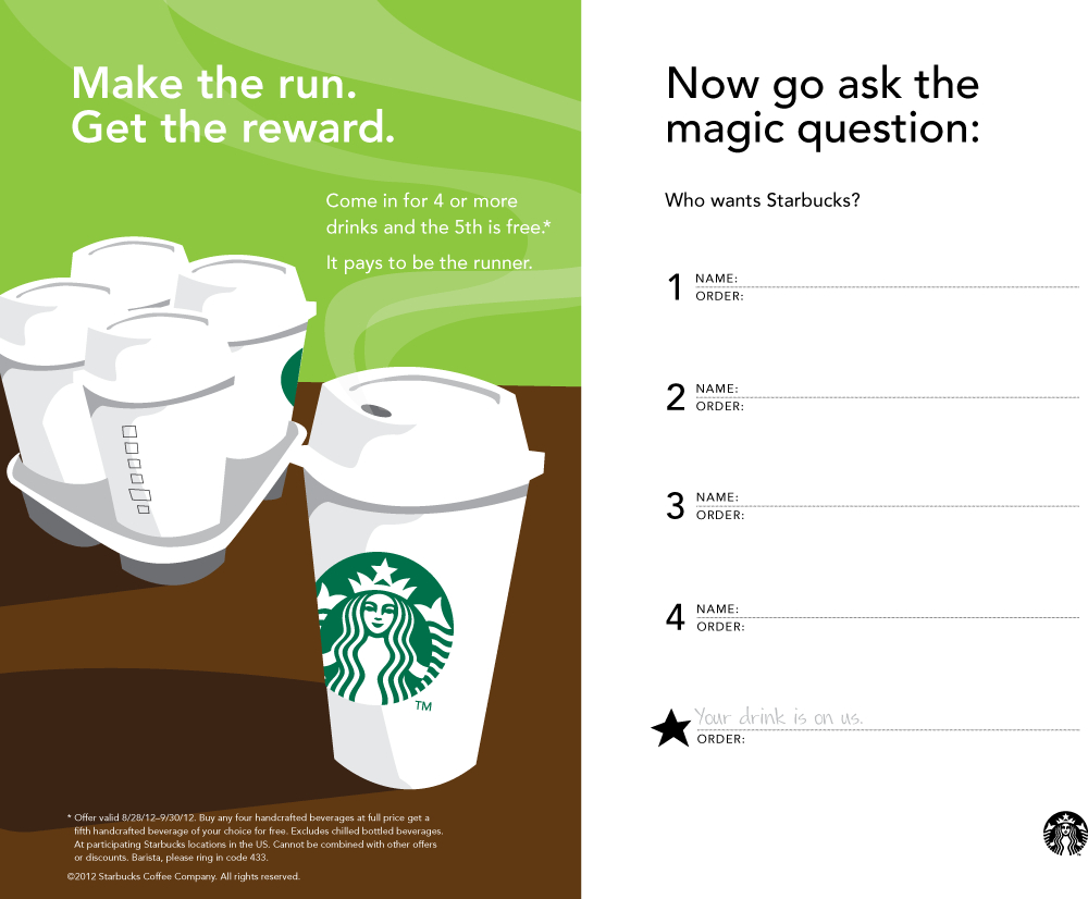 5Th Coffee Free At Starbucks Coupon Via The Coupons App | The - Free Coffee Coupons Printable