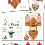 6 Free Diy Paper Gingerbread Houses • The Celebration Shoppe   Free Gingerbread House Printables
