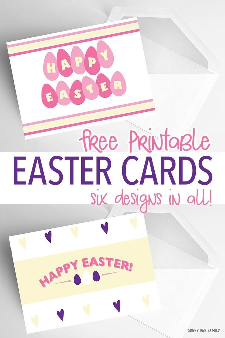 6 Free Printable Easter Cards Every Bunny Will Love | Holidays - Free Printable Easter Cards