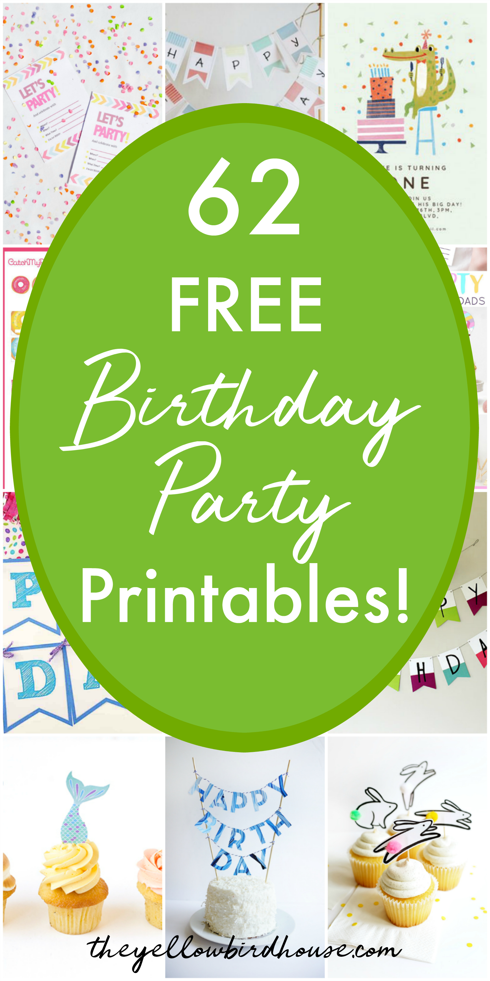 62 Free Birthday Party Printables | The Yellow Birdhouse - Free Party Printables
