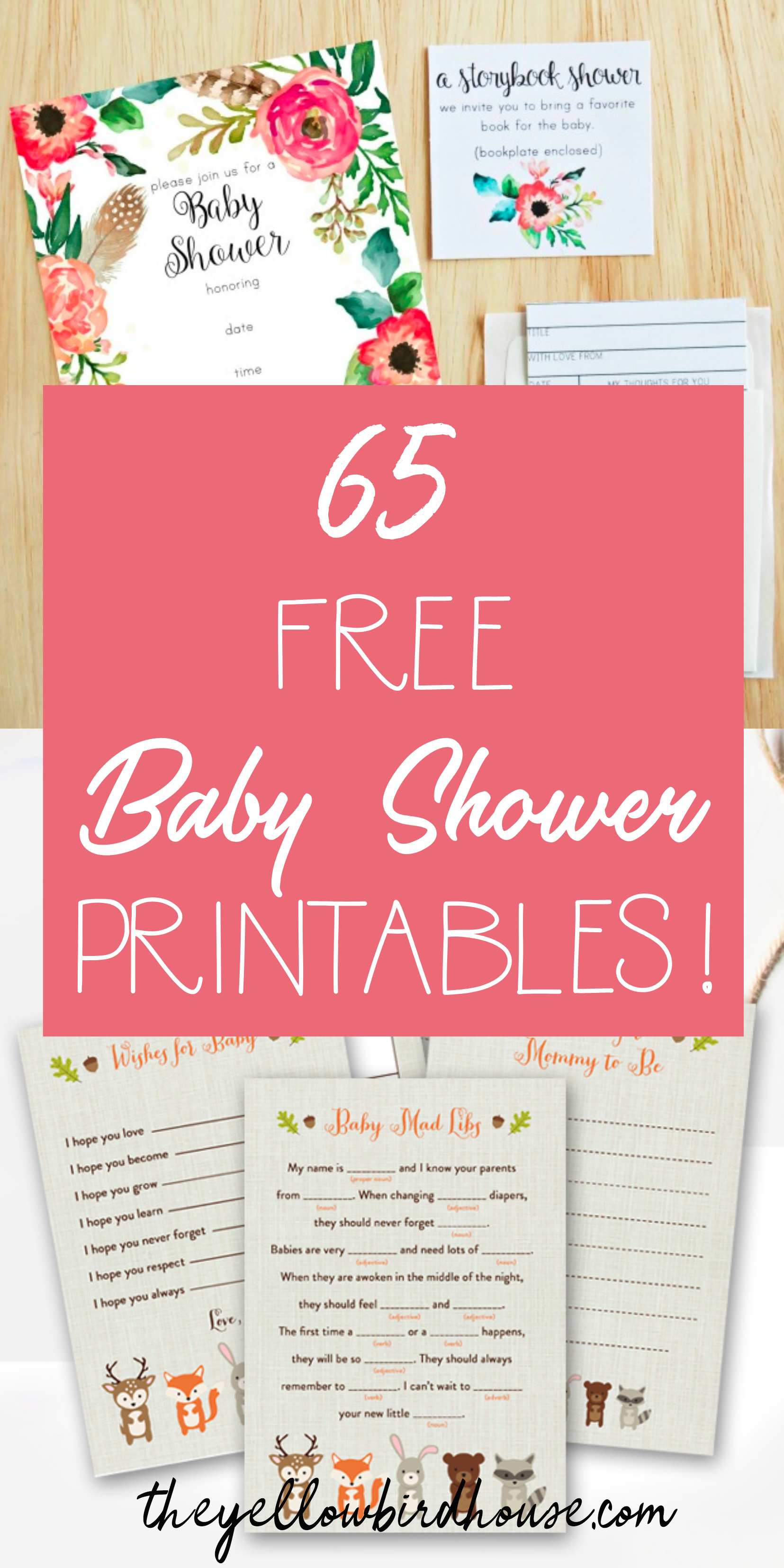 65 Free Baby Shower Printables For An Adorable Party - Woodland Baby Shower Games Free Printables