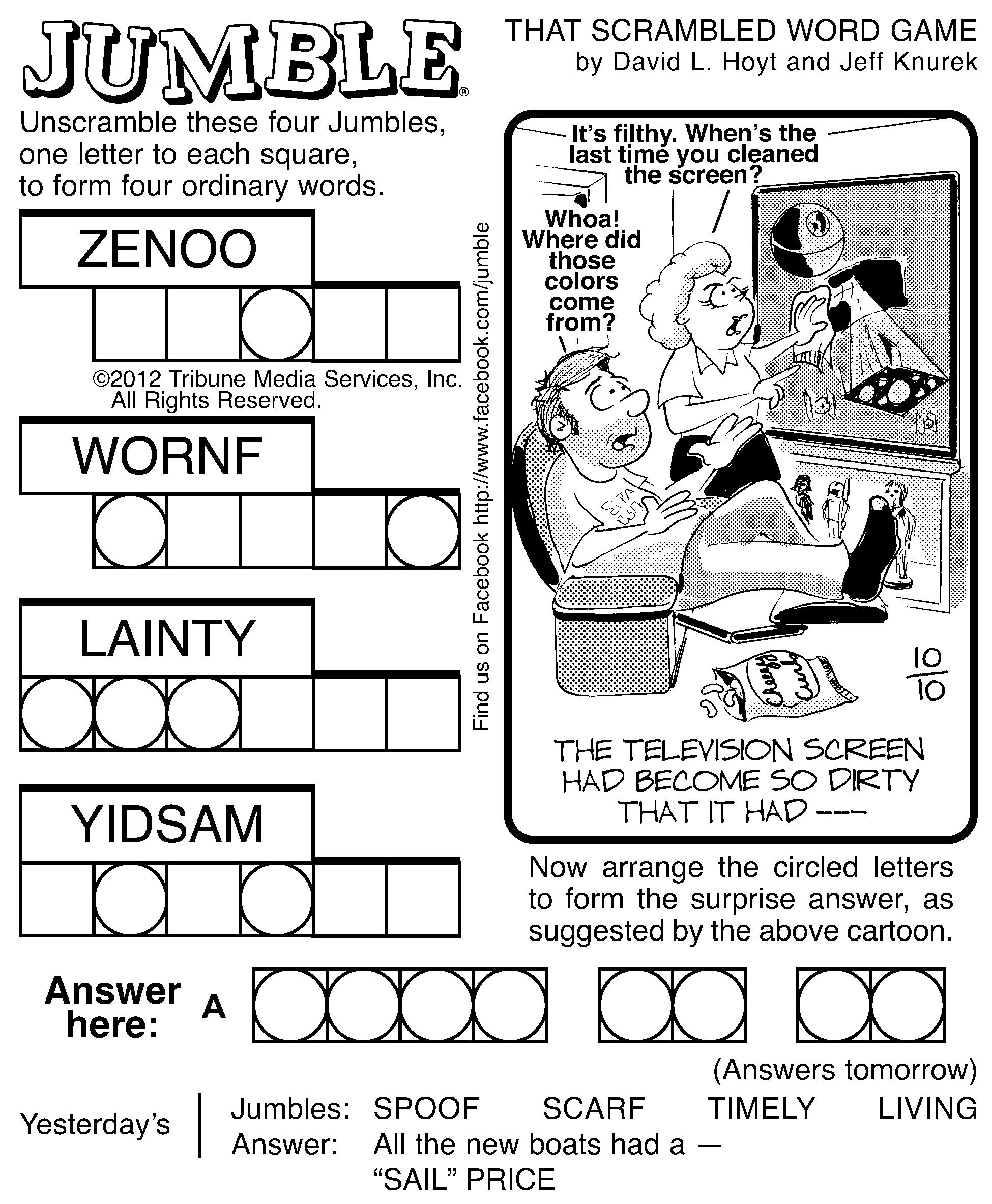 7 Best Images Of Printable Jumble Word Puzzles Coping   Jumble - Free Printable Word Jumble Puzzles For Adults