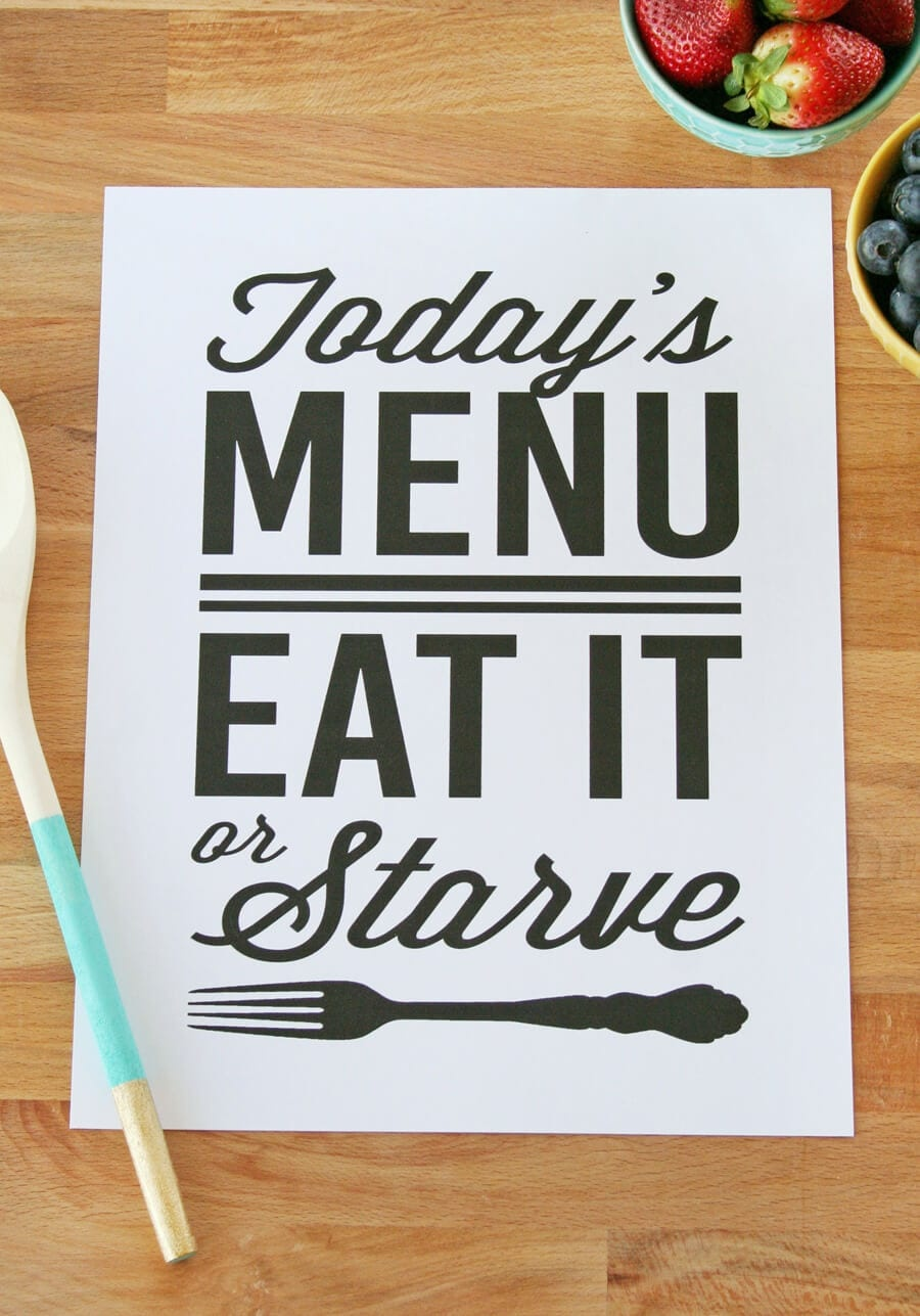 7 Free Kitchen Printables To Spruce Up The Heart Of Your Home - Free Kitchen Printables