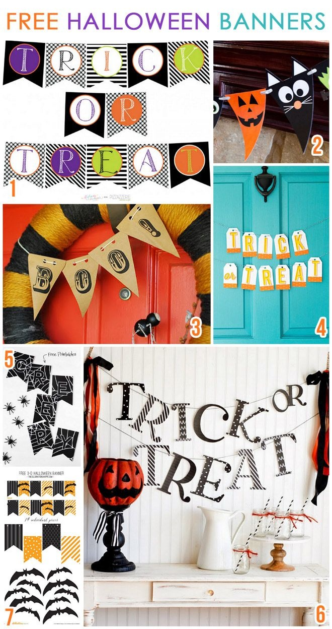 7 Free Printable Halloween Banners | Bloggers Best | Halloween Party - Free Printable Halloween Party Decorations