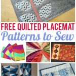 7 Free Quilted Placemat Patterns You'll Love   On Craftsy!   Free Printable Placemat Patterns