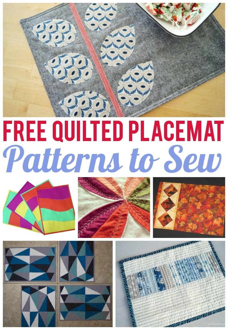 7 Free Quilted Placemat Patterns You'll Love - On Craftsy! - Free Printable Placemat Patterns