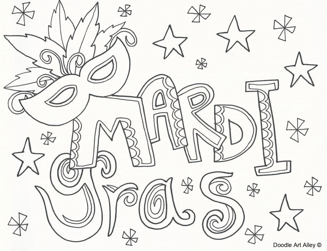 7 Top Places To Find Free Mardi Gras Coloring Pages - Mardi Gras Coloring Pages Free Printable