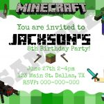 8 Best Images Of Minecraft Party Invitation Printable Template   Free Printable Minecraft Birthday Party Invitations Templates