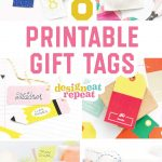 8 Colorful & Free Printable Gift Tags For Any Occasion!   Free Printable Birthday Tags
