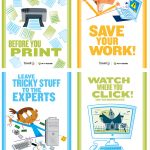 8 Must Have Classroom Posters For Technology Best Practices   Free Printable Computer Lab Posters