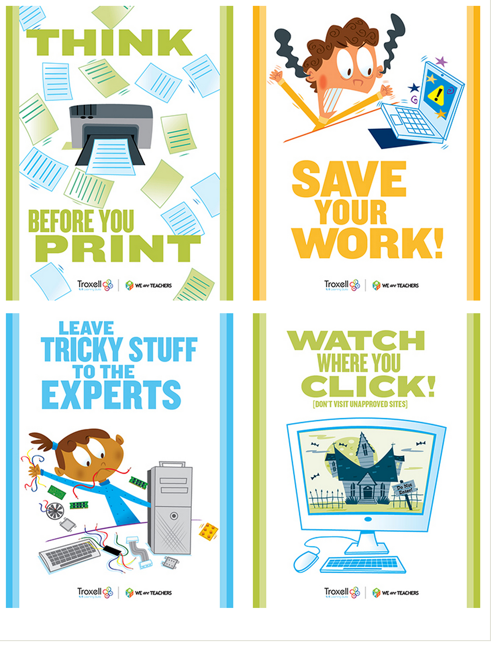 8 Must Have Classroom Posters For Technology Best Practices - Free Printable Computer Lab Posters