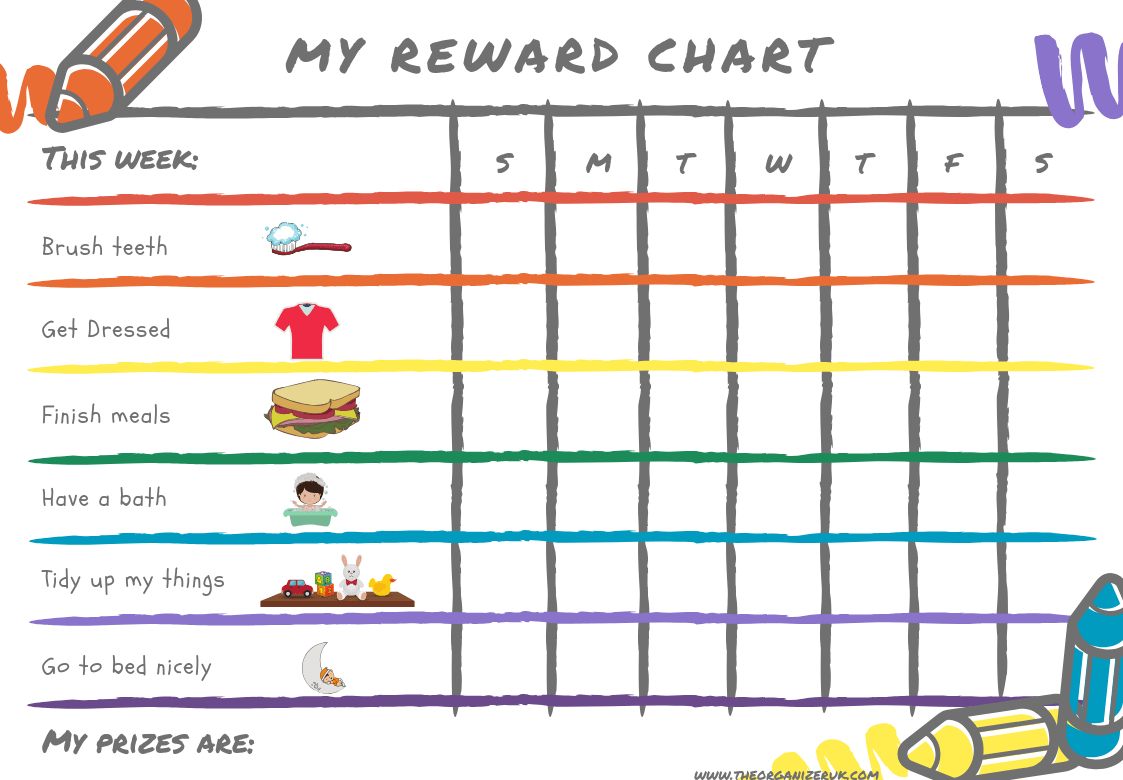 8 Of The Best Free Printable Kids Chore Charts ~ The Organizer Uk - Free Printable Chore Charts For 10 Year Olds