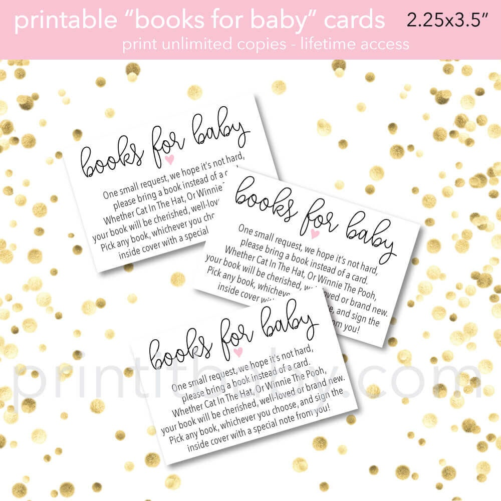"""9 """"bring A Book Instead Of A Card"""" Baby Shower Invitation Ideas - Bring A Book Instead Of A Card Free Printable"""