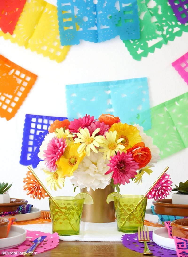 A Colorful Cinco De Mayo Mexican Fiesta - Party Ideas | Party - Free Printable Mexican Party Decorations