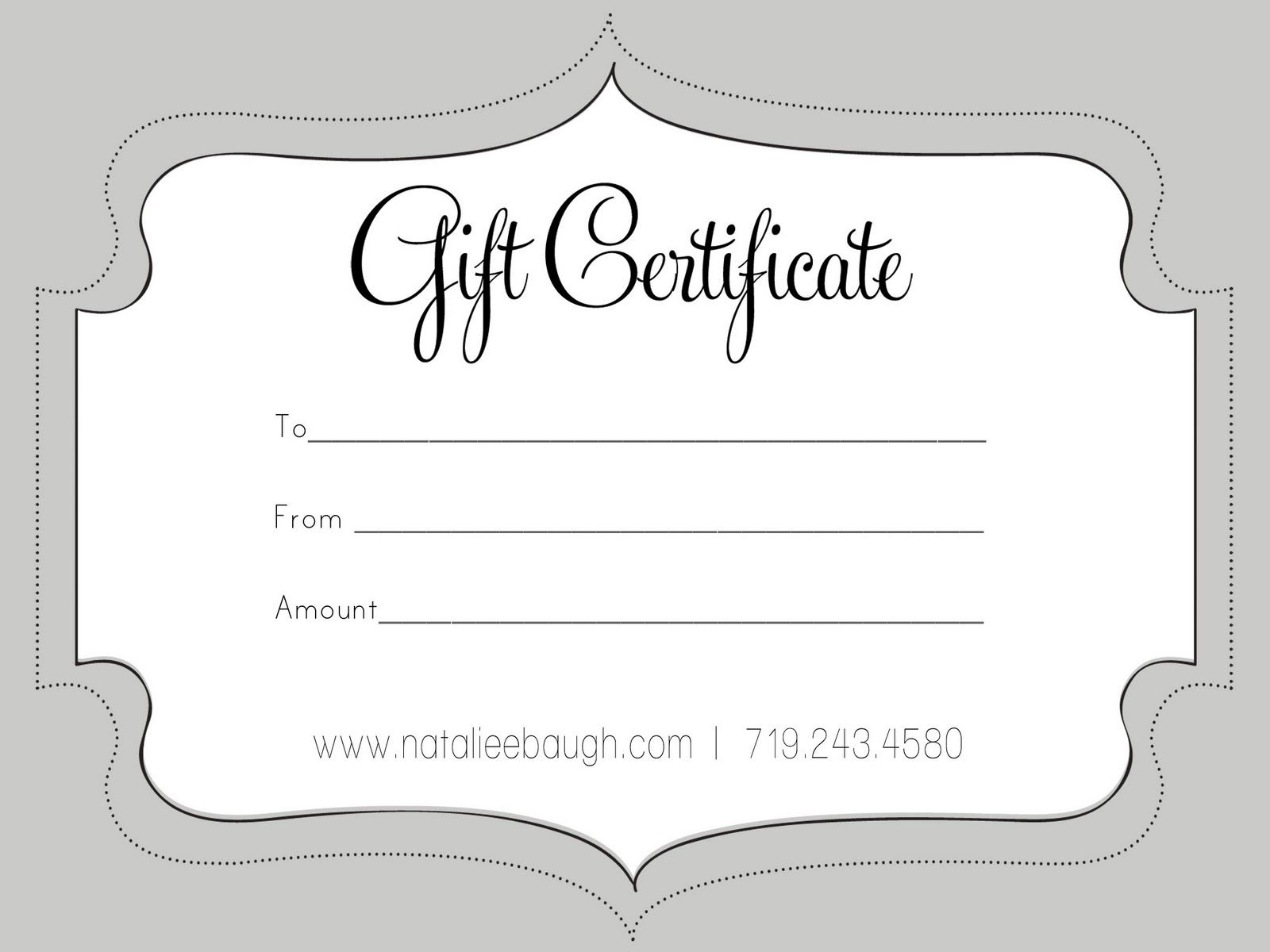 A Cute Looking Gift Certificate | S P A | Gift Certificate Template - Free Printable Photography Gift Certificate Template