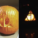 A Deathly Hallows Pumpkin | Harry Potter Related | Harry Potter   Free Printable Harry Potter Pumpkin Carving Patterns