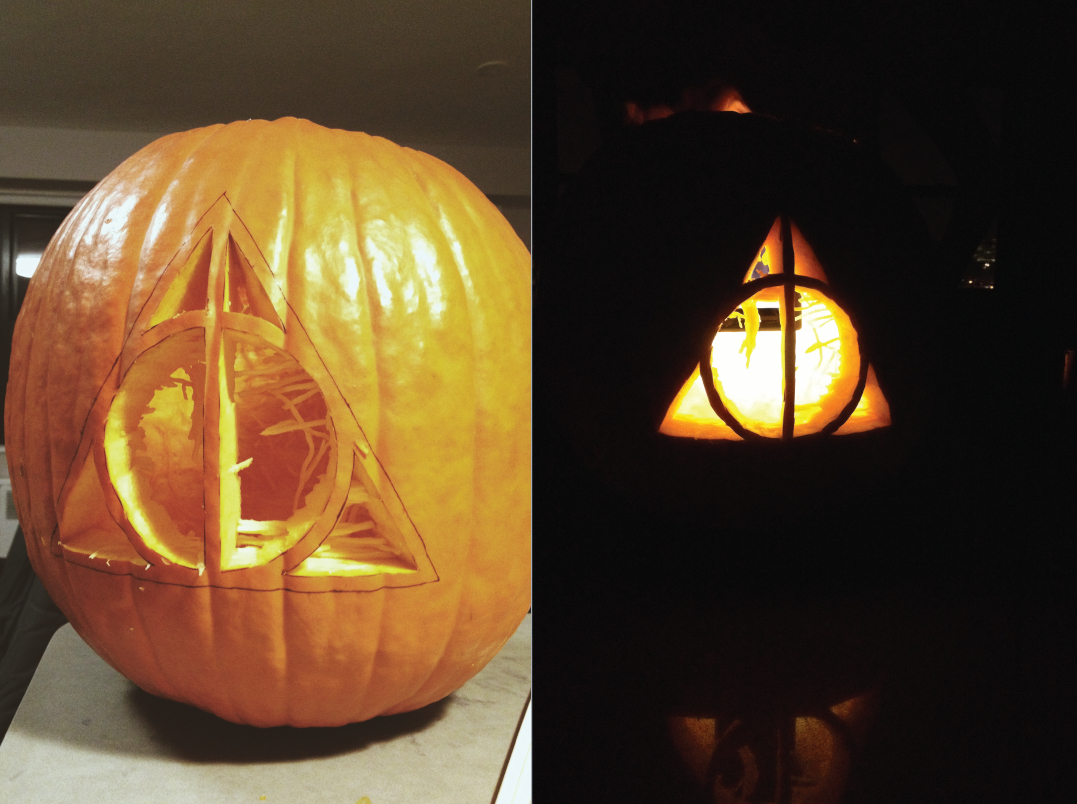 A Deathly Hallows Pumpkin | Harry Potter Related | Harry Potter - Free Printable Harry Potter Pumpkin Carving Patterns