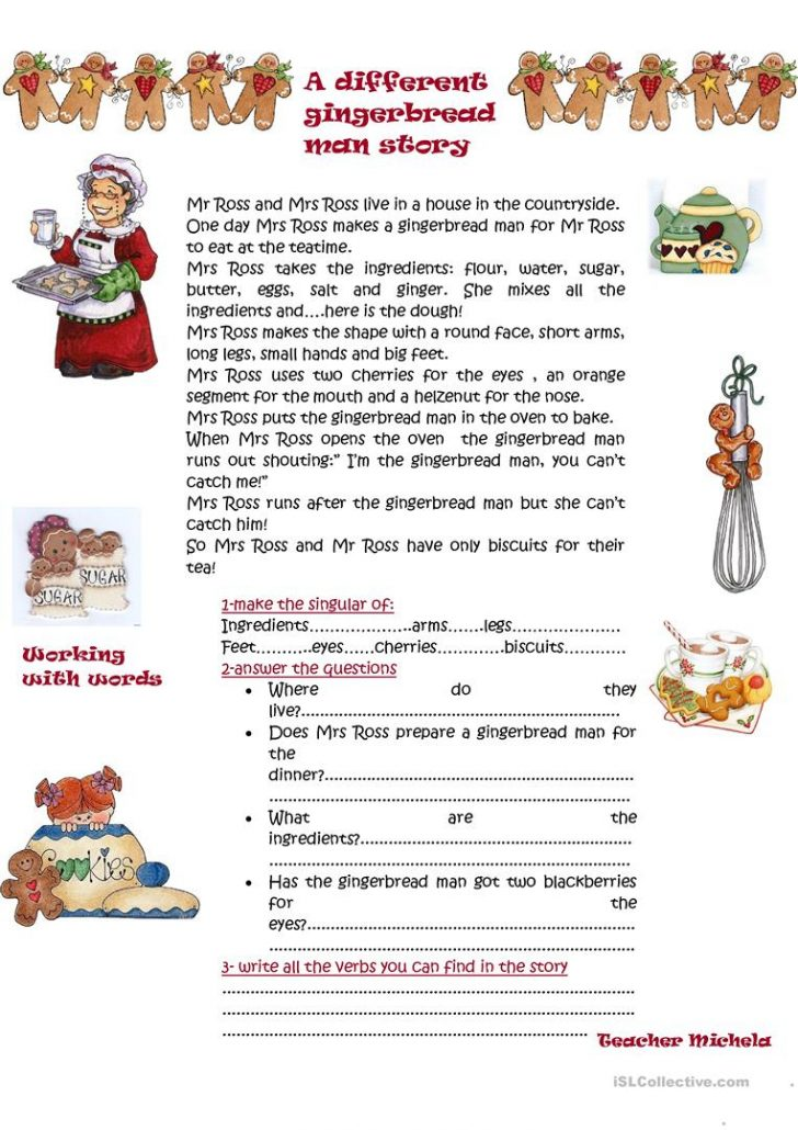 Free Printable Version Of The Gingerbread Man Story