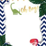 A Dinosaur Template For Your Baby Shower | Baby Shower | Baby   Free Printable Dinosaur Baby Shower Invitations