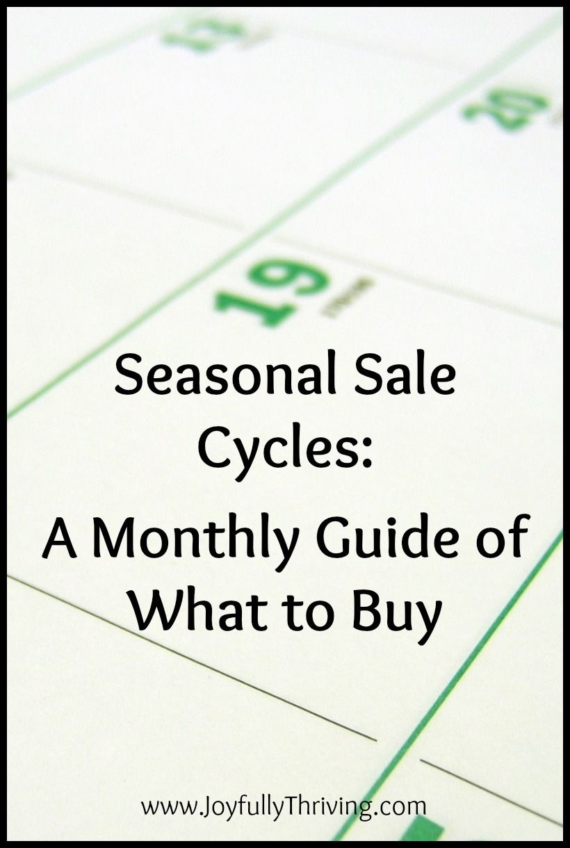 A Free Printable Guide To Seasonal Sale Cycles | Money, Money, Money - Free Printable Coupons Without Downloads