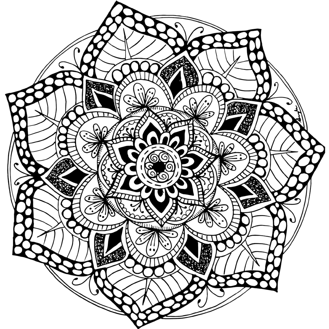 A Free Printable Mandala Coloring Page. 60+ More Available On - Free Printable Mandalas