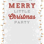 A Merry Little Party   Free Printable Christmas Invitation Template   Free Printable Christmas Party Flyer Templates