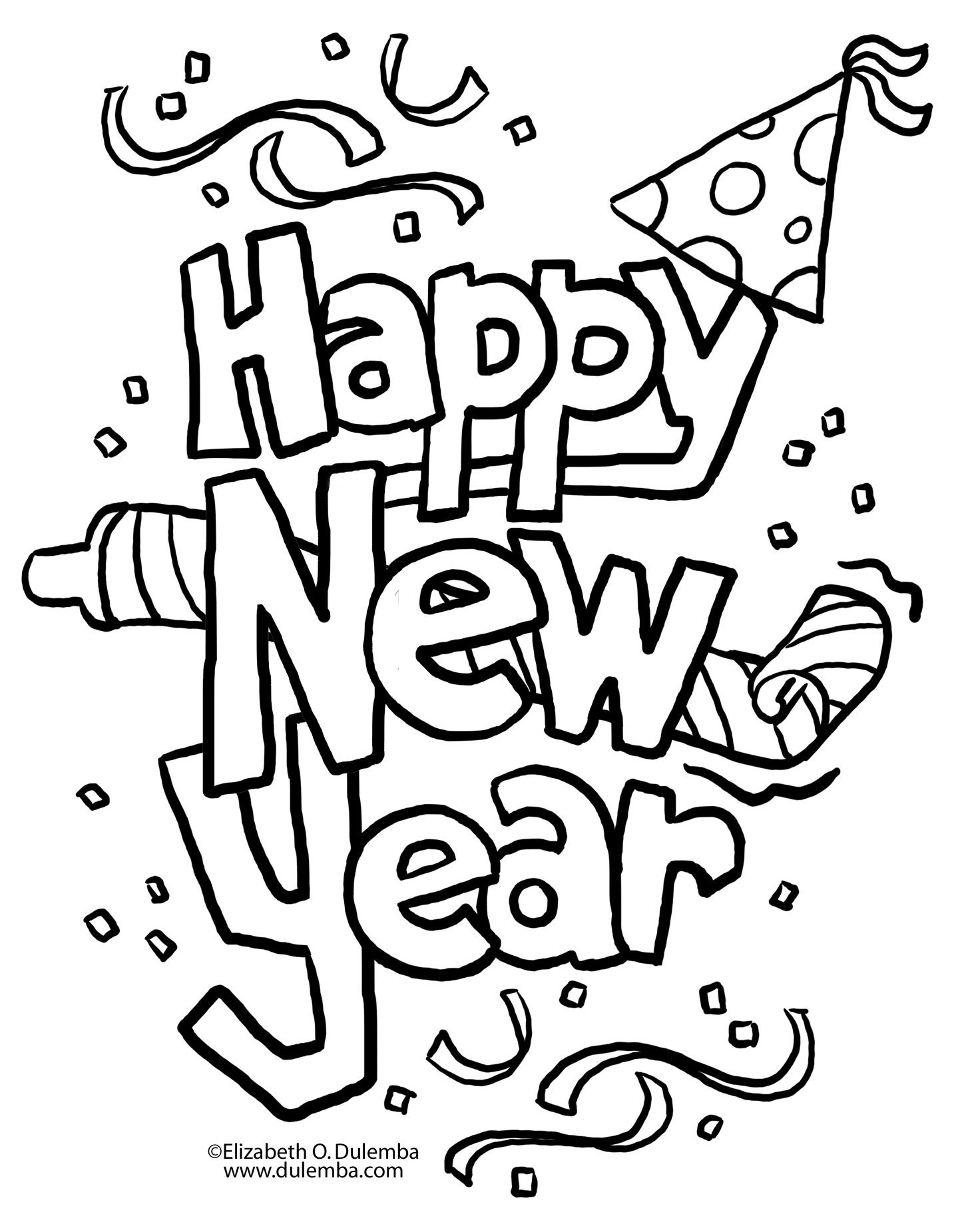 A New Twist On New Year's Eve | Coloring Pages | New Year Coloring - New Year Coloring Pages Free Printables