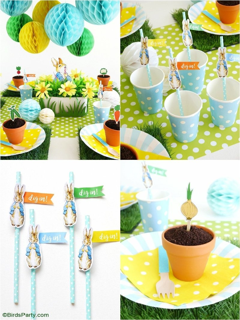 A Peter Rabbit Spring Party With Free Printables - Party Ideas - Free Peter Rabbit Party Printables