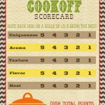 A Pocket Full Of Lds Prints: Chili Cook Off Scorecard … | Chili   Chili Cook Off Printables Free