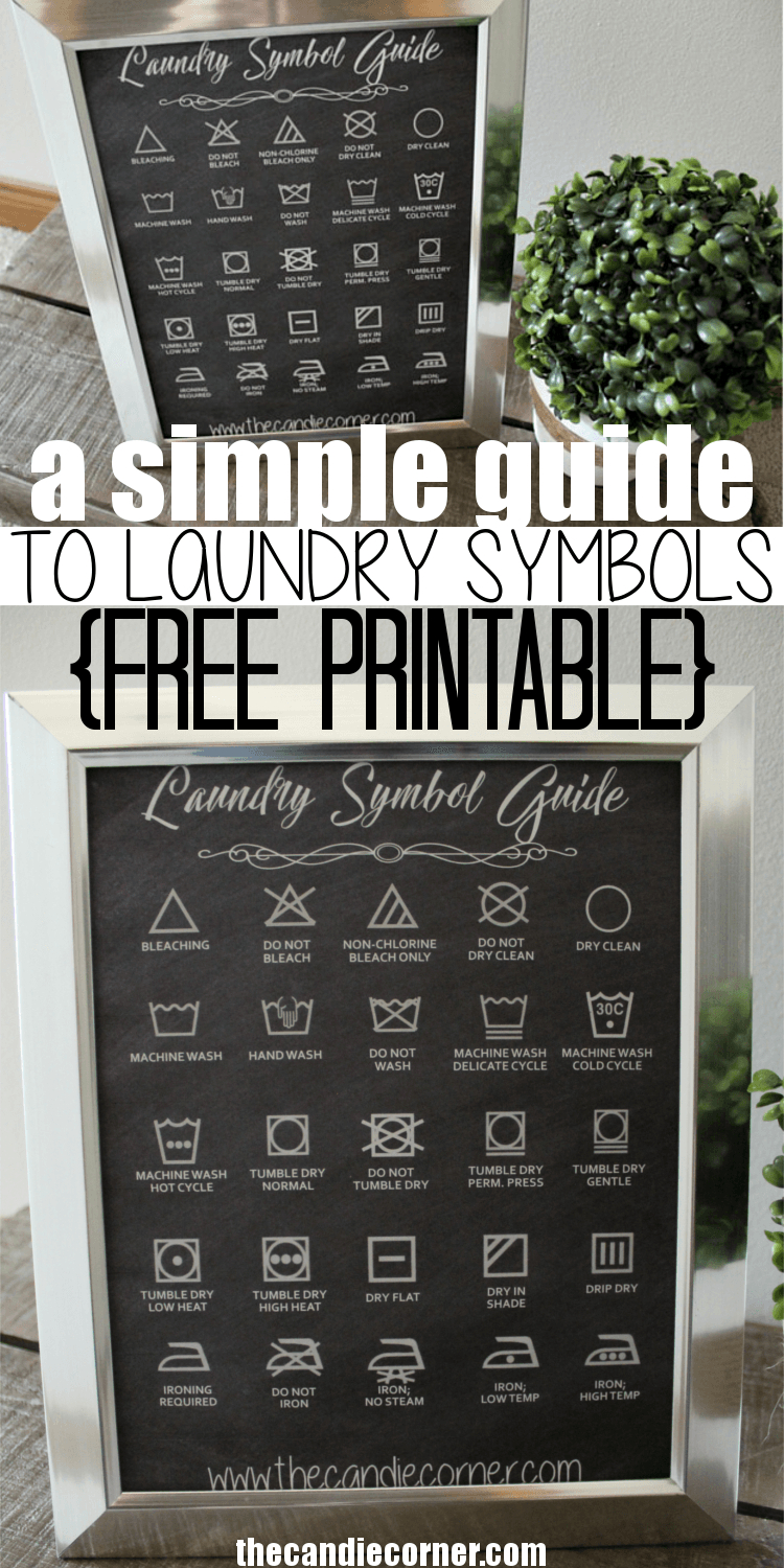 A Simple Guide To Laundry Symbols (Free Printable | Our House - Free Printable Laundry Room Signs