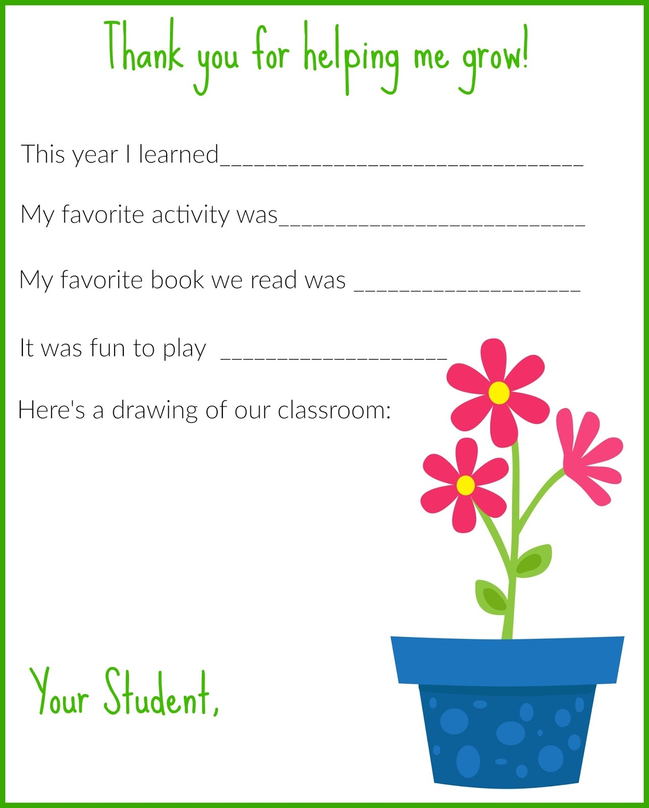 A Thank You Letter For Teachers {Free Printable} - The Chirping Moms - Thank You Teacher Printables Free