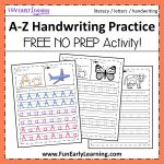 A Z Handwriting Practice No Prep Worksheets For Learning Letters   Free Printable Worksheets Handwriting Practice