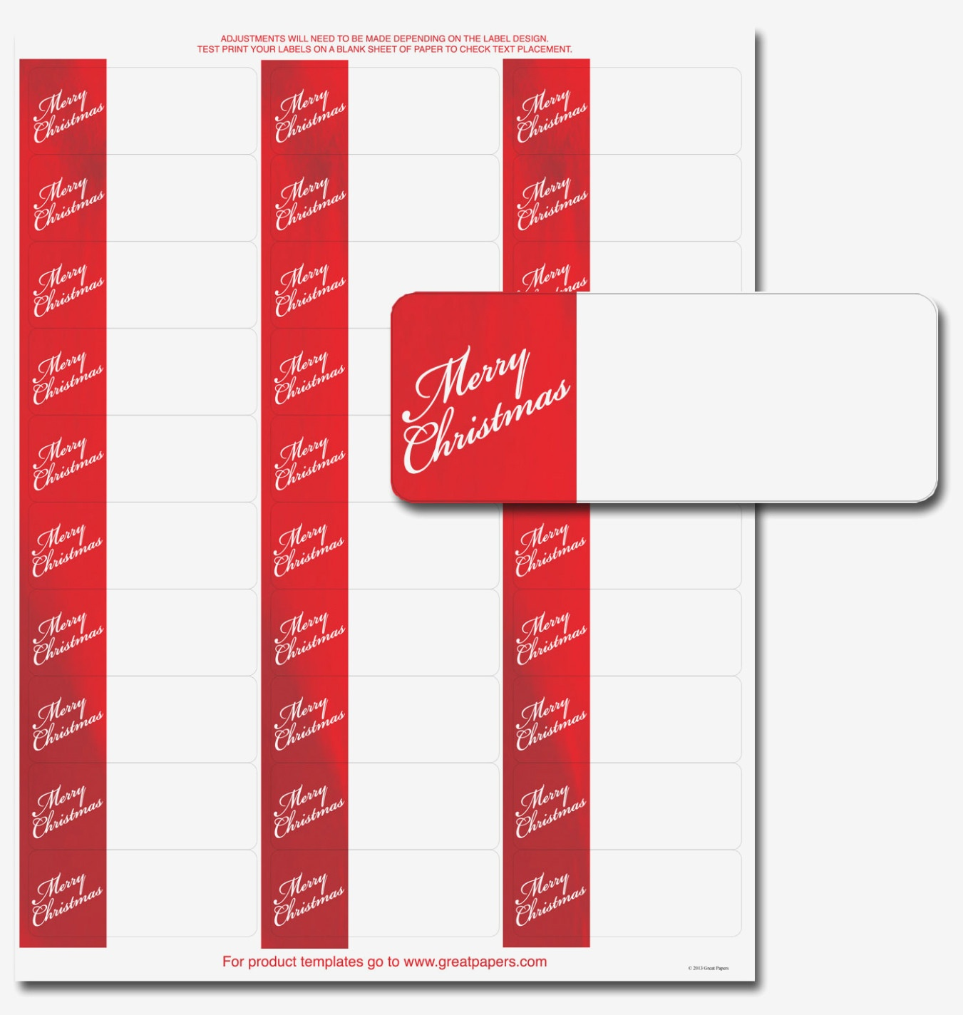 Address Labels 15 Per Sheet Unique Free Christmas Return Address - Free Printable Christmas Address Labels Avery 5160