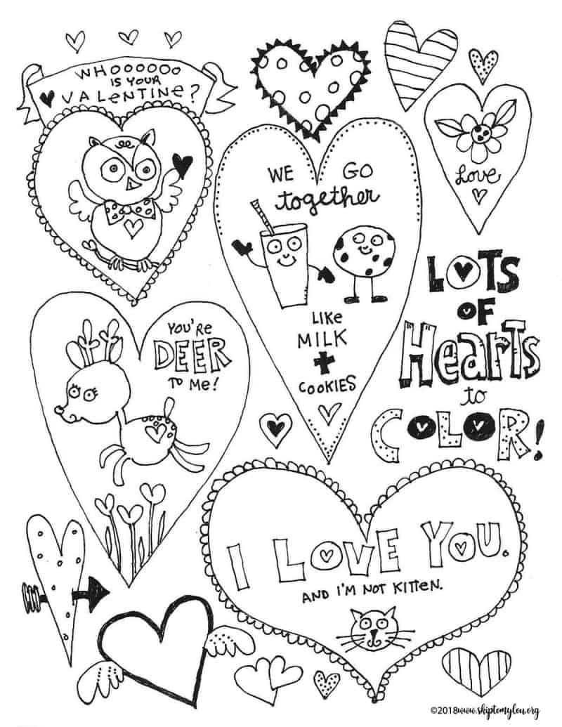 Adorable Free Heart Coloring Pages | Skip To My Lou - Free Printable Heart Coloring Pages