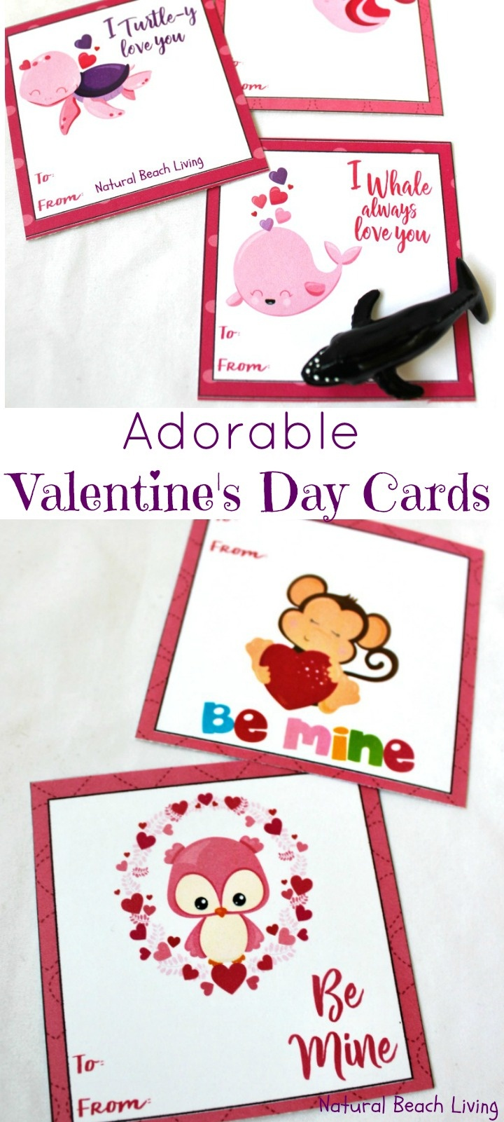 Adorable Preschool Valentine's Day Cards (Free Printables) - Natural - Free Printable Valentine Cards For Preschoolers