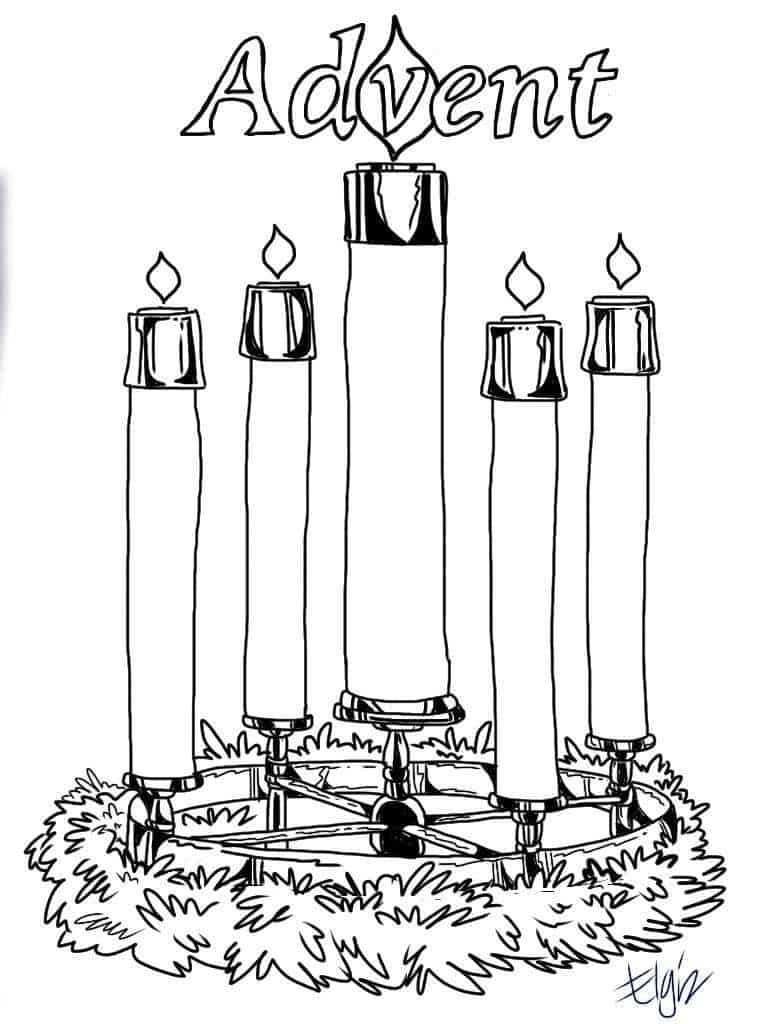 Advent Candles Coloring Pages - Ministry-To-Children - Free Advent Wreath Printables