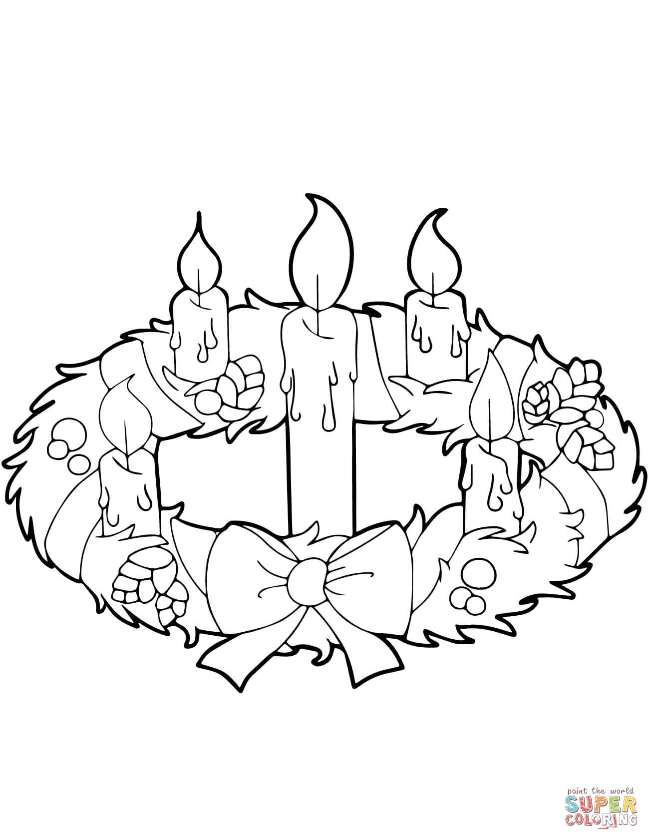 Advent Wreath And Candles Coloring Page | Free Printable Coloring Pages - Free Advent Wreath Printables