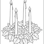 Advent Wreath Coloring Page     Free Advent Wreath Printables