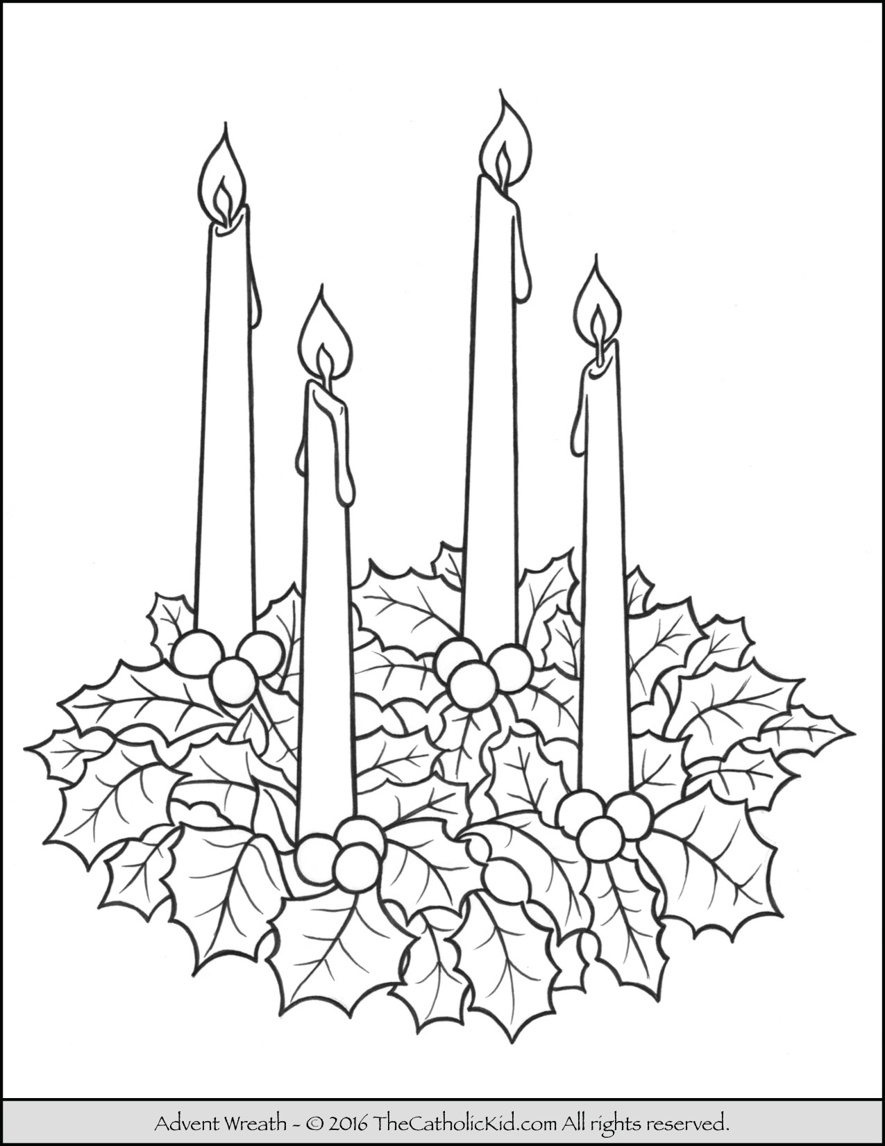 Advent Wreath Coloring Page - - Free Advent Wreath Printables