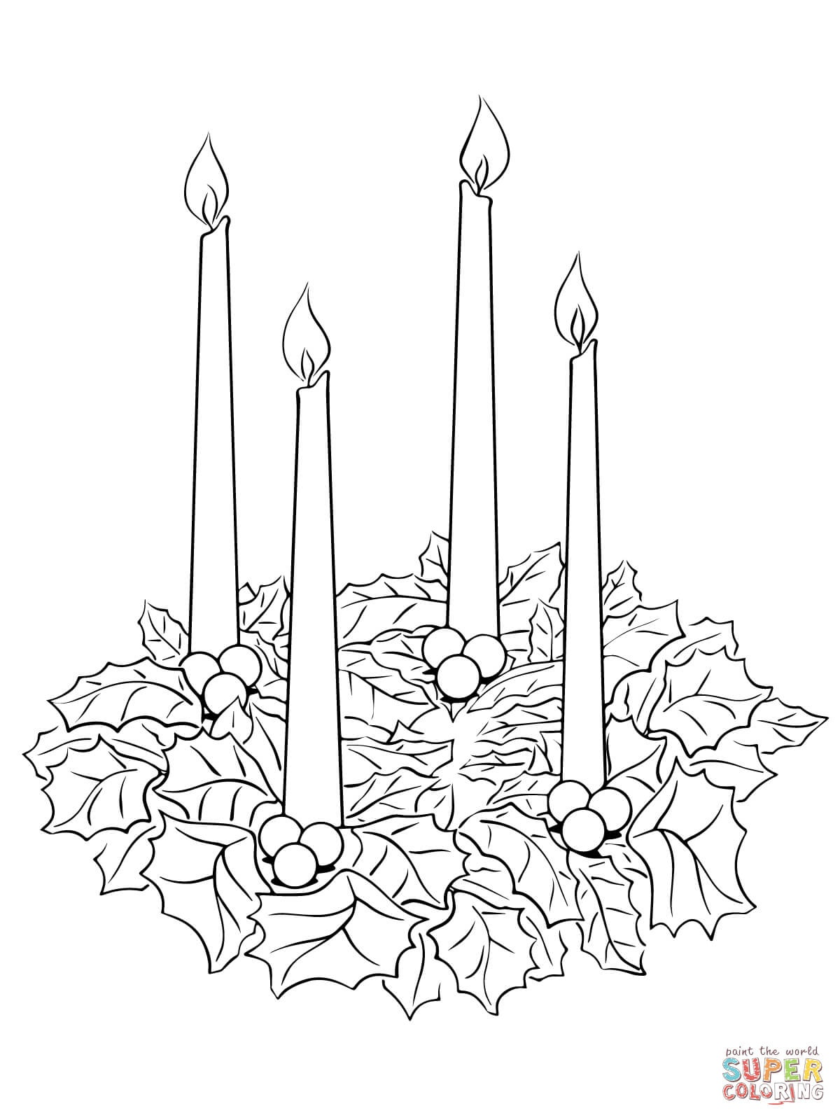 Advent Wreath Coloring Page | Free Printable Coloring Pages - Free Advent Wreath Printables